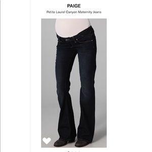 Paige Petite MATERNITY laurel canyon Jean 27